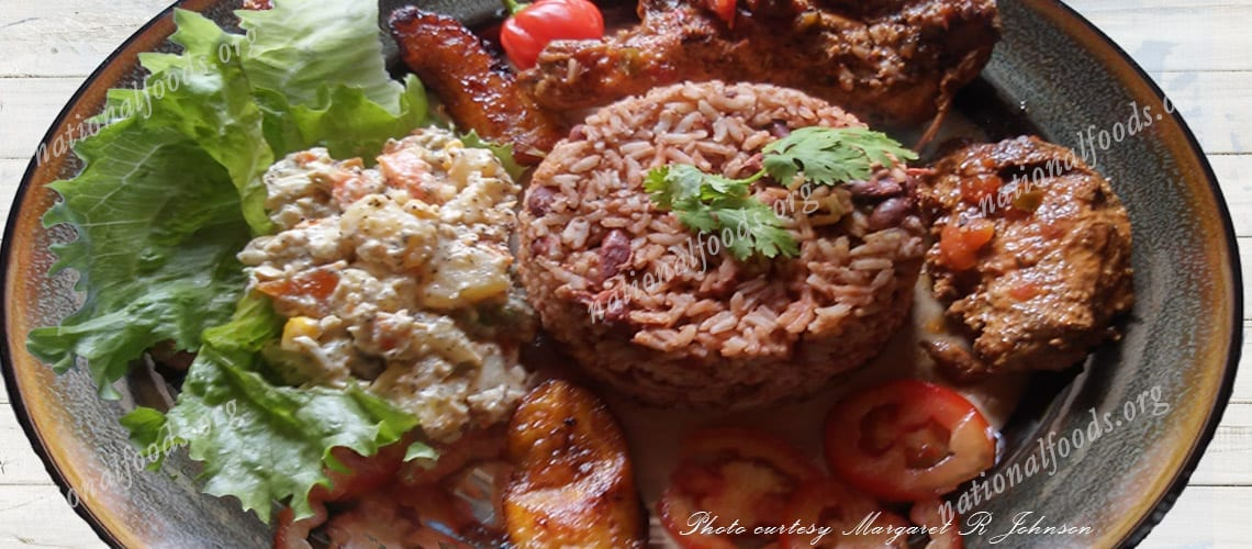 National Dish of Belize Traditional Rice and Beans