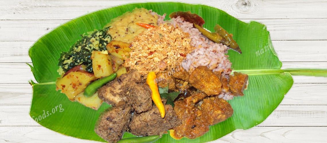 National Dish of Sri Lanka Rice and Curry