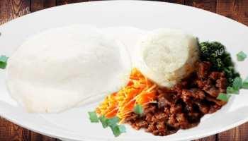 National dish of tanzania ugali na maharage ya nazi