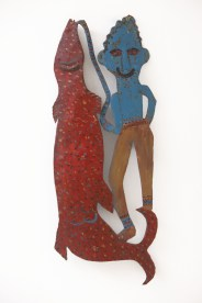 Reginald English - Jonkunnu Fisherman (1995), Wayne and Myrene Cox Collection.