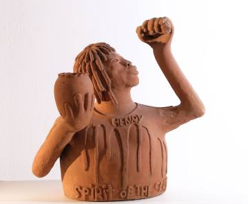 Sylvester Stephens - Henry, Spirit of the Clay (2004), Wayne and Myrene Cox Collection.