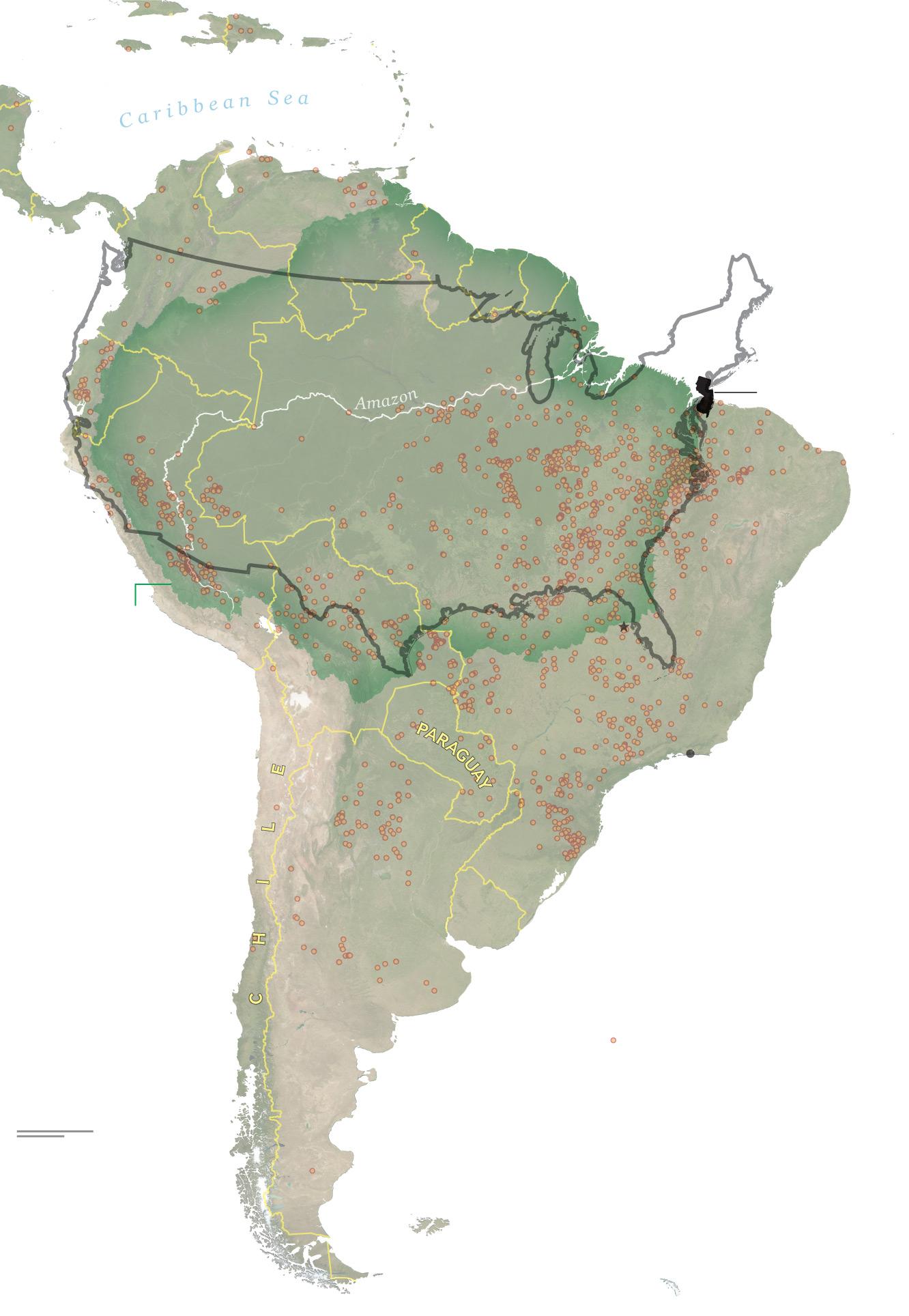 Amazon Rainforest World Map : amazon, rainforest, world, Amazon, Forest, Burning,, Compares, Other, Years