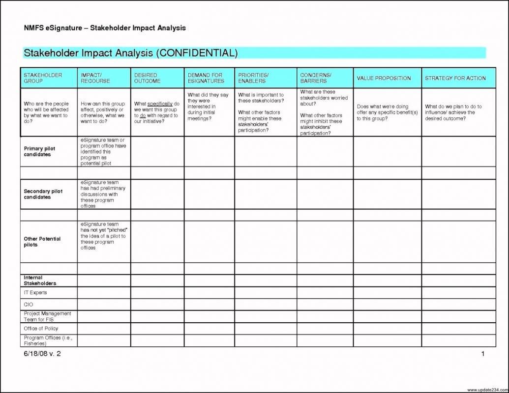 Stakeholderysis Template