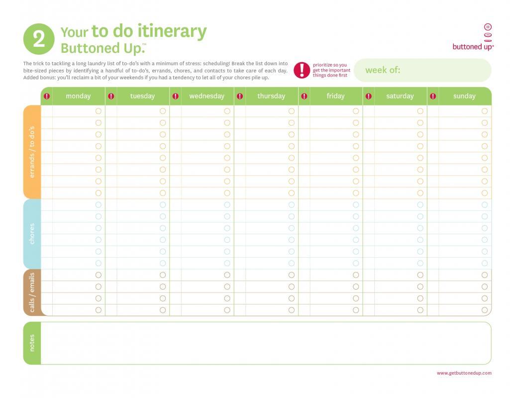 Bachelorette Itinerary Template