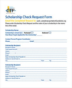 Check Request Form | Template Business