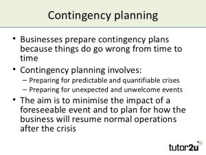 Contingency Plan Example | Template Business