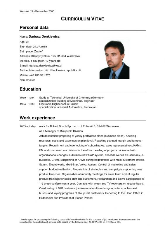 Cv Template Download Template Business