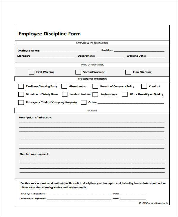 Employee Write Up Form Fairy Vaultradio Co