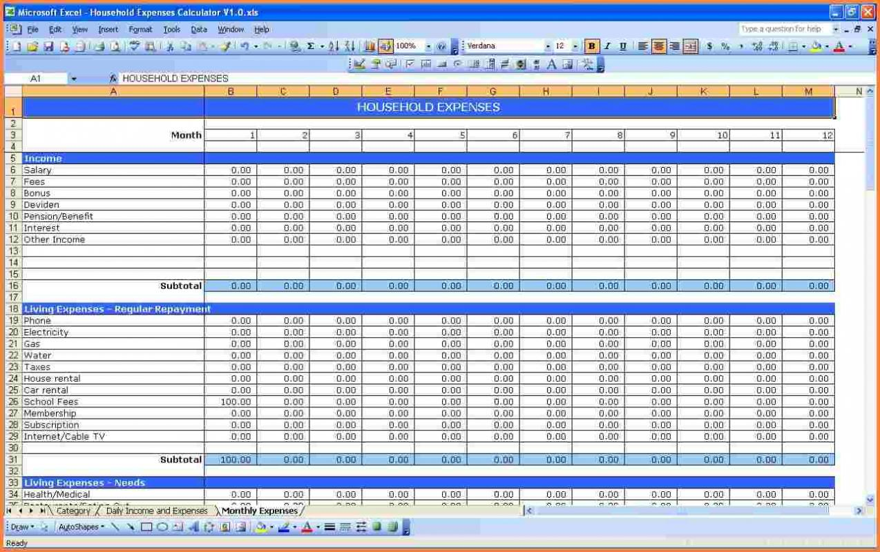 Excel Expenses Report