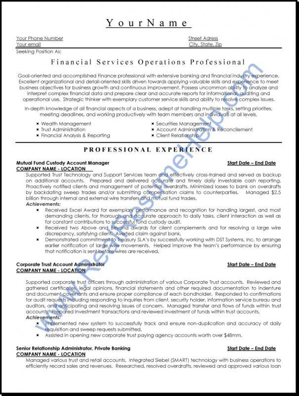 Executive Resume Template  Template Business