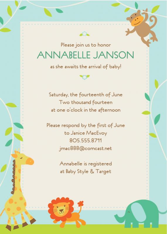 Free Baby Shower Invitations Templates Pdf Template