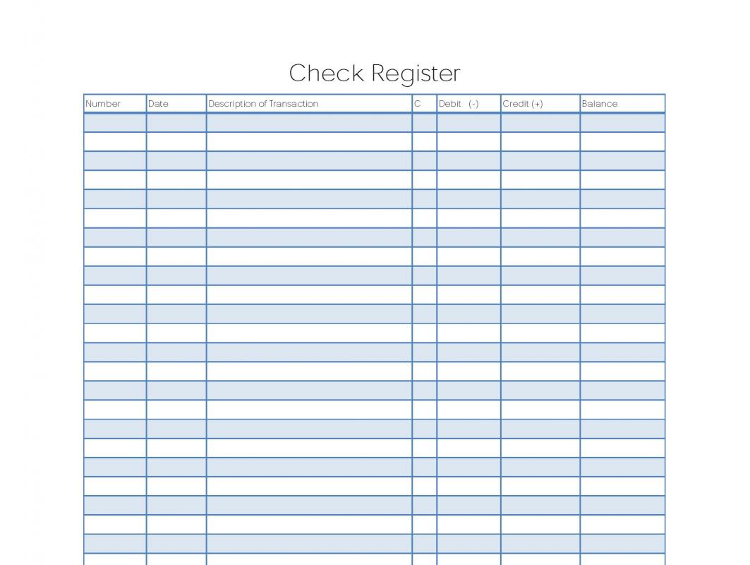 Free Checkbook Register