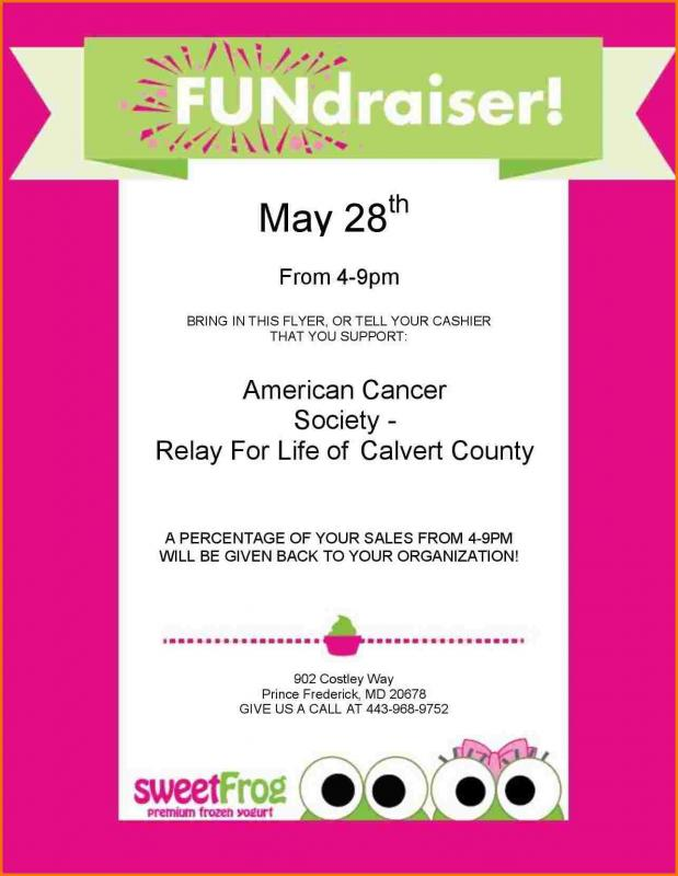 fundraiser flyer template word