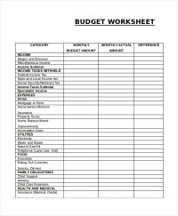 Free Household Budget Worksheet | Template Business