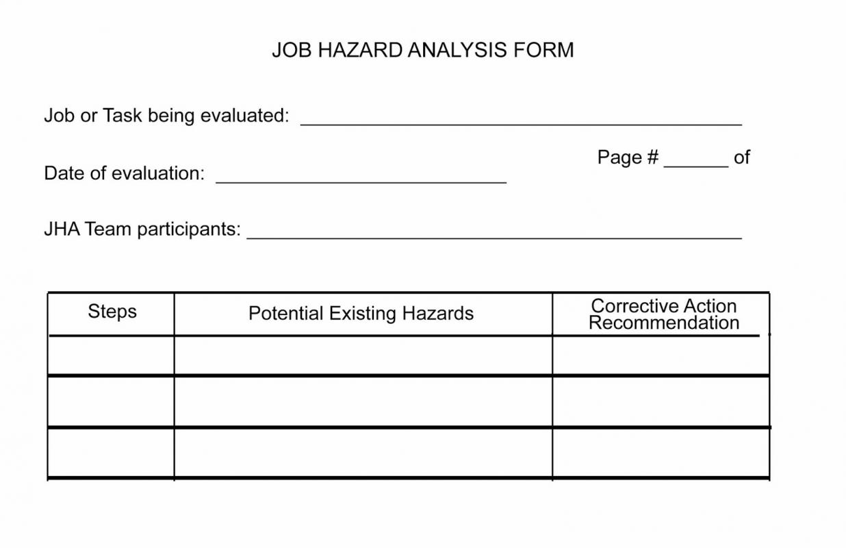 Job Hazardysis Form