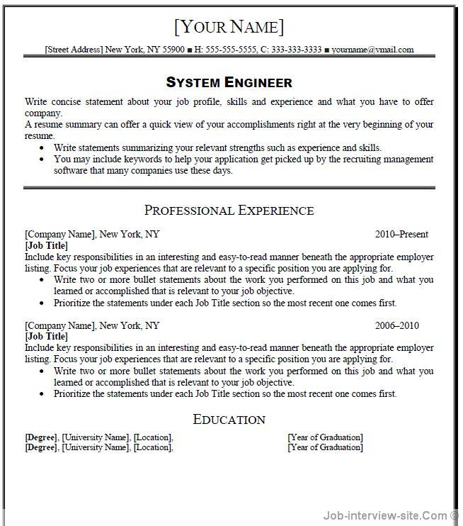 Operation Manager Resume Template Business