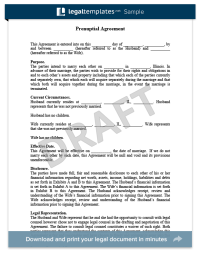 Prenup Agreements Template | Template Business