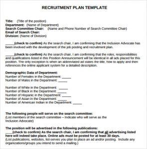 Recruitment Plan Templates | Template Business
