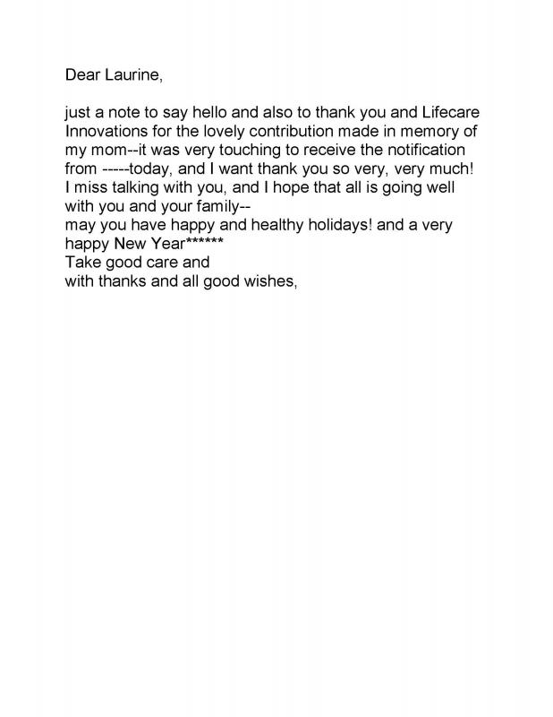 Sample Donation Letter In Memory Of Someone Template Business
