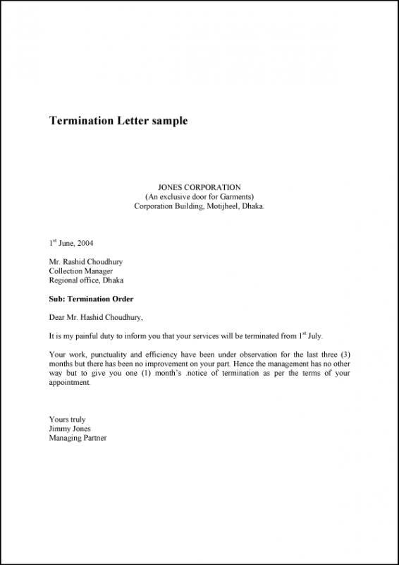 Generic Termination Letter