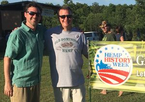 Jason Amatucci and Marty Phipps at the first Virginia Hemp History Day