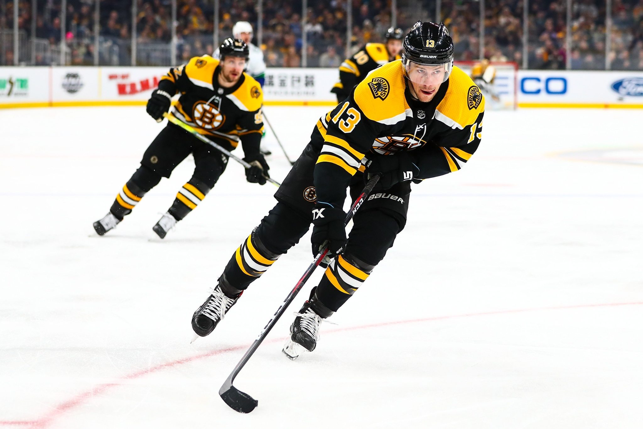 Coyle Sheds Non-Contact Jersey, Has Full Practice With Bruins