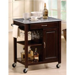 Granite Top Kitchen Cart Cabinet Pull Handles Eden 2696 A More Than Furniture Store