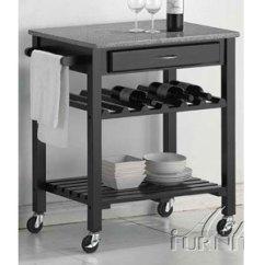 Granite Top Kitchen Cart Waste Bins Travis 2698 A More Than Furniture Store