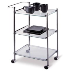 Kitchen Serving Cart Old Cabinets For Sale In Metallic Finish 62933 Oi More Than A