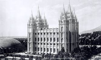 The Mormom Temple, Salt Lake City, Utah