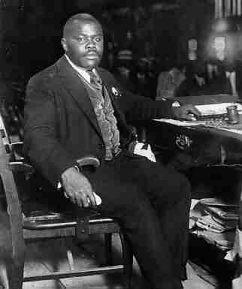 Marcus Garvey presiding at 1922 UNIA convention