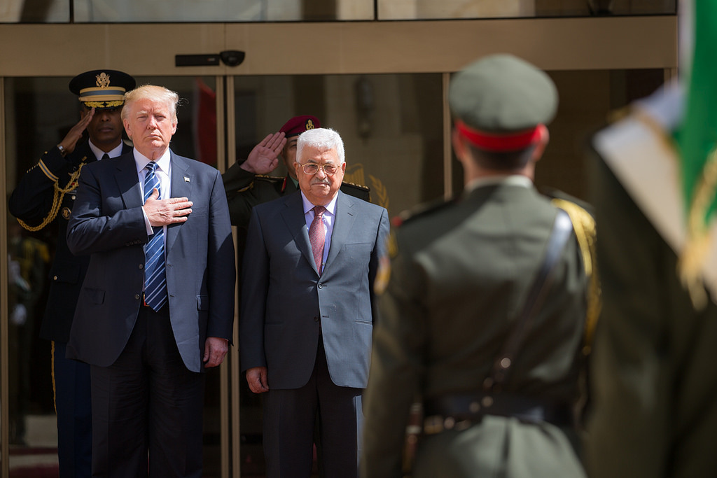 President Donald Trump with President Mahmoud Abbas of the Palestinian Authority. Flickr/The White House