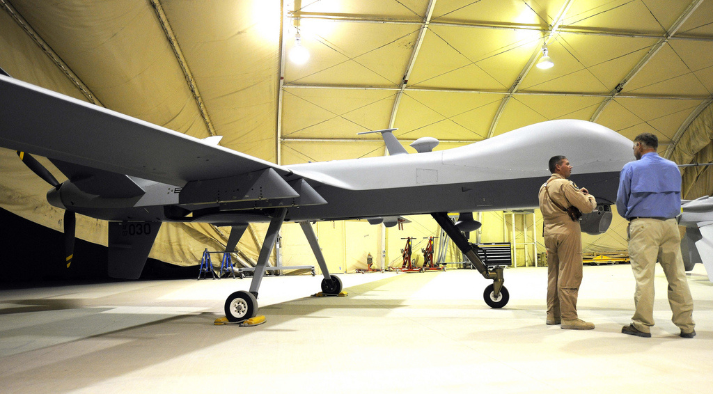 Predator unmanned aerial vehicle at Kandahar Air Field, Afghanistan. Flickr/U.S. Department of Defense