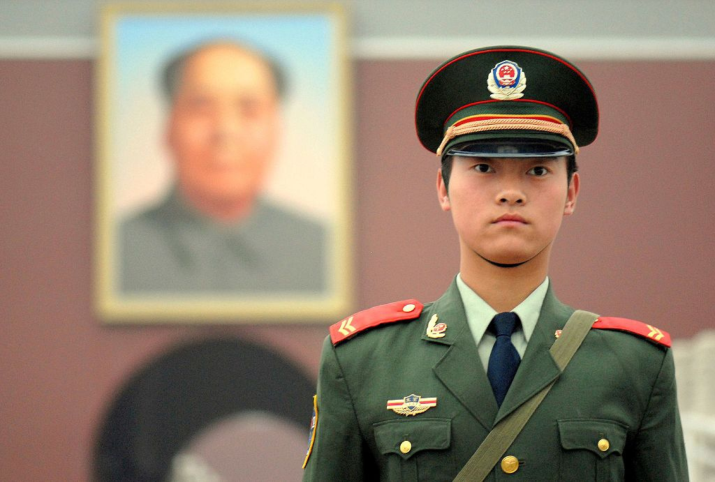 A Chinese People's Armed Police guard on Tiananmen Square. Wikimedia Commons/Creative Commons/Luo Shaoyang