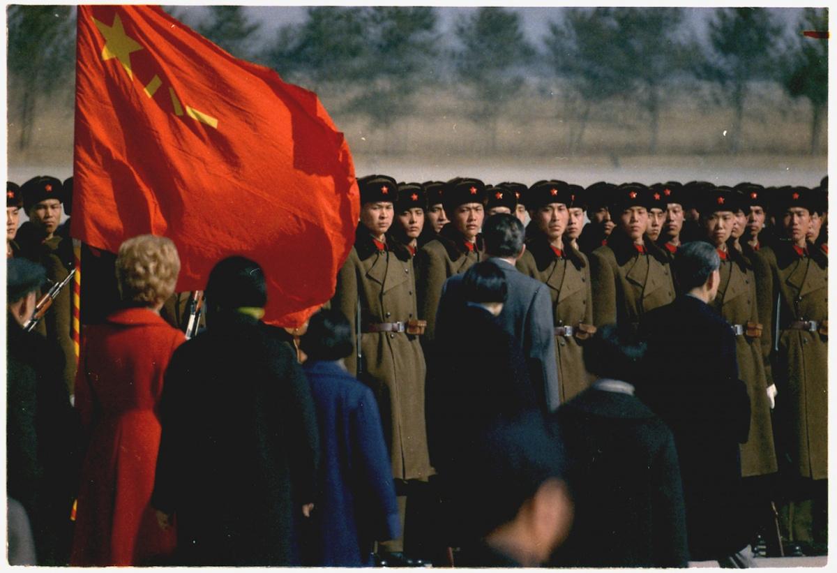 L'arrivée du président et Mme Nixon à Pékin. Wikimedia Commons / Public domain