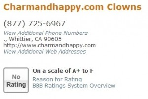 How charmandhappy.com is listed today.