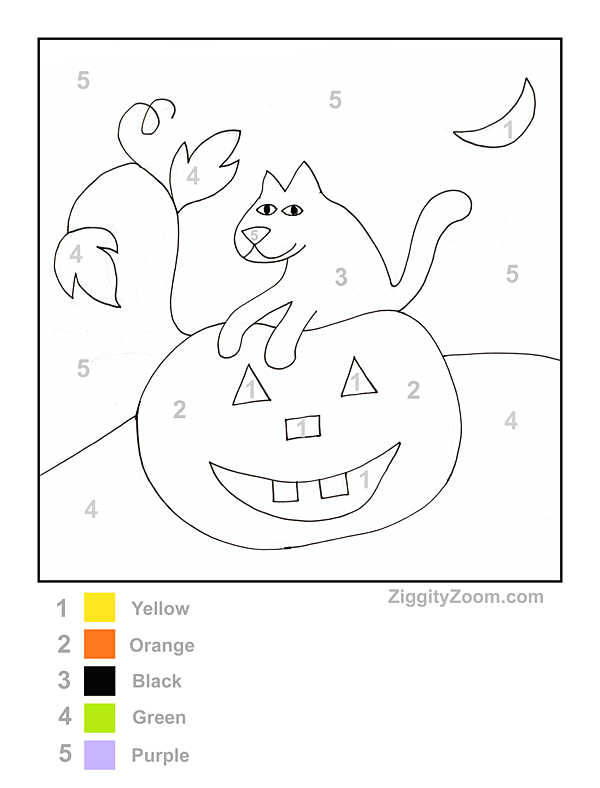 Halloween Color by Number Printable