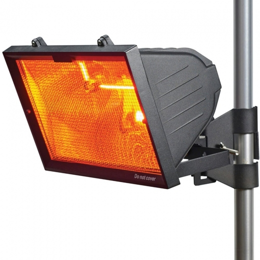 Outdoor Infrared Heater With Mesh Grill 1300W Die Cast Aluminium Black