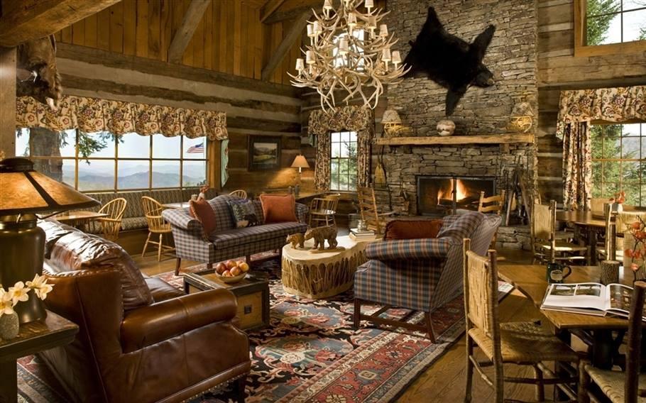 Amazing Log Cabin Interiors - National Land Realty Blog