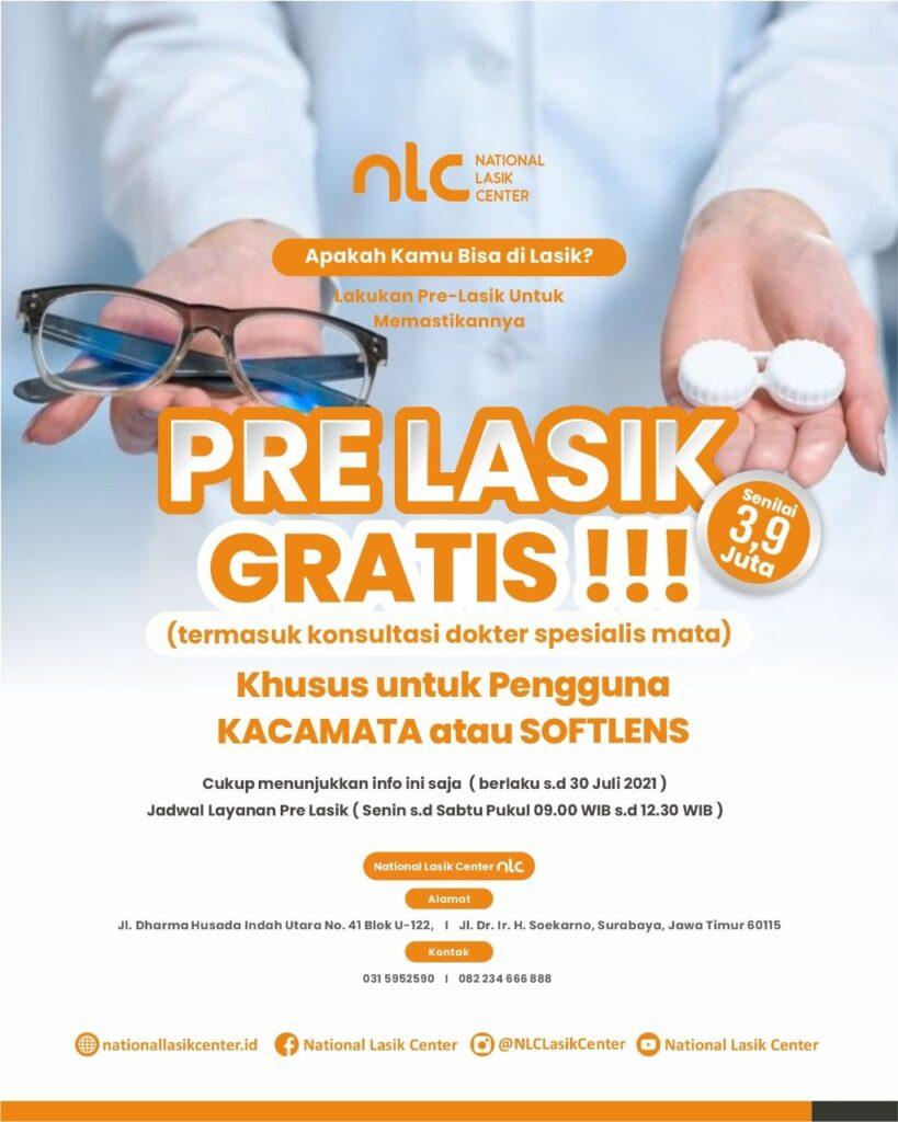 Promo Pre Lasik Gratis National Lasik Center
