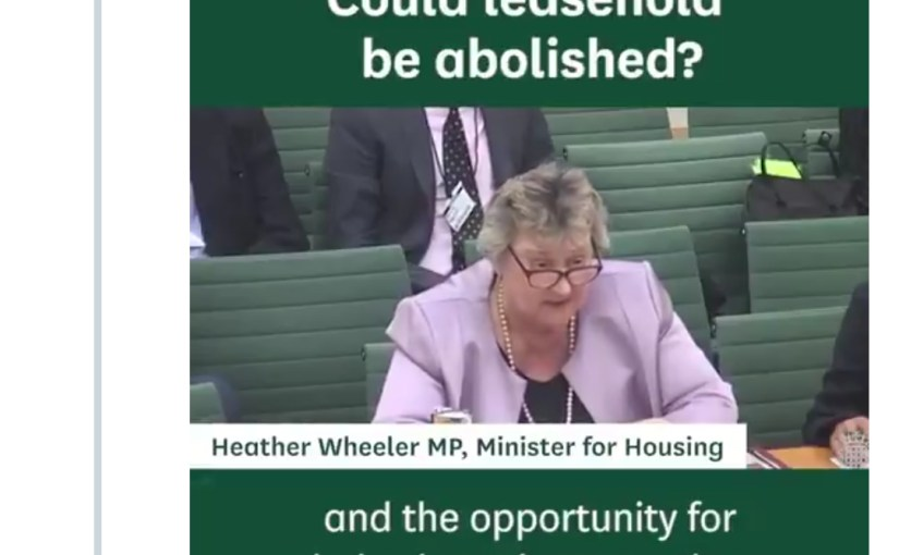 """Watch the """"Select Committee Leasehold Reform Report Statement"""" on YouTube"""