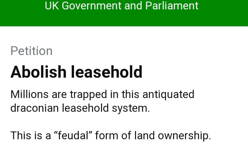 ABOLISH LEASEHOLD PETITION CLOSES IN 2 DAYS