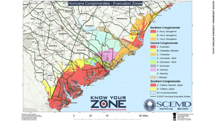Florence evacuation zones