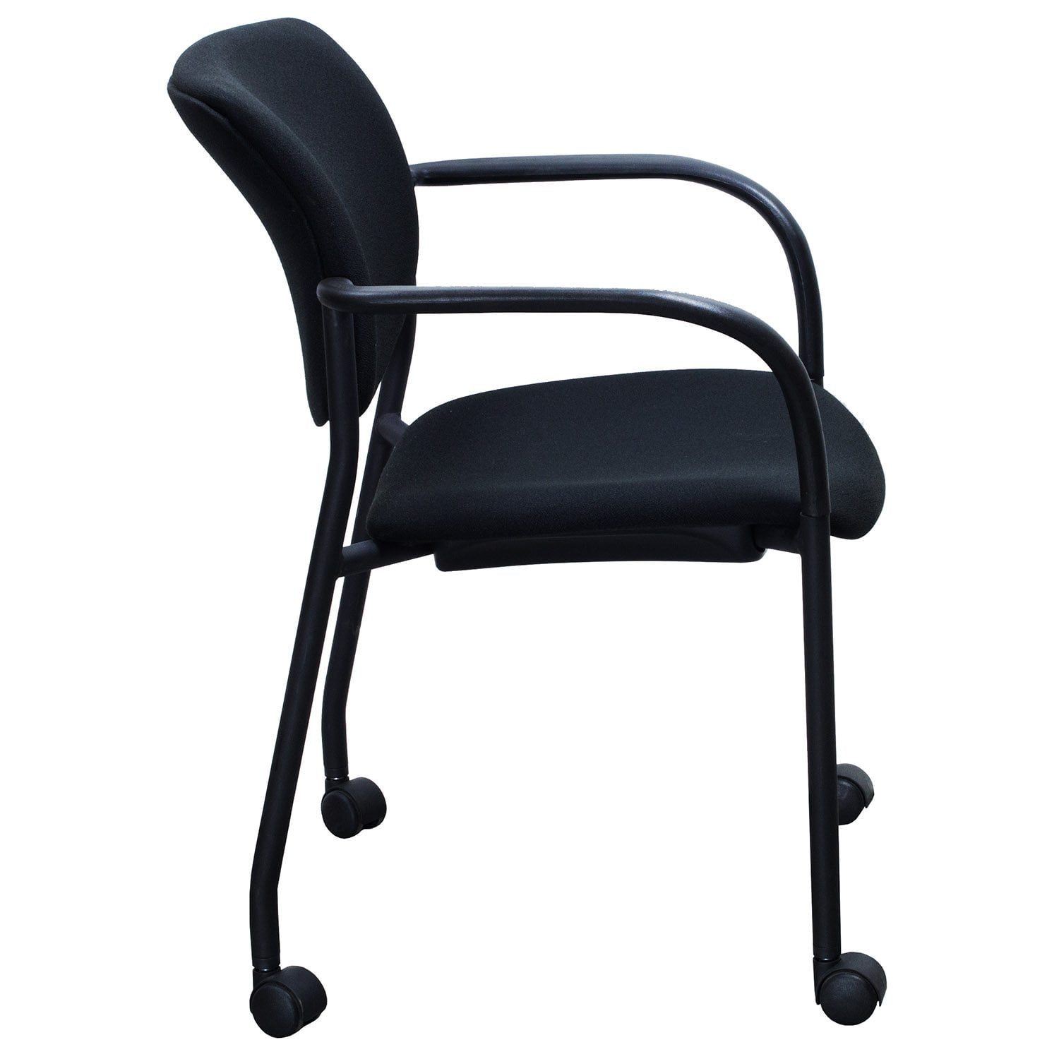 9to5 Used Mobile Stack Chair, Black