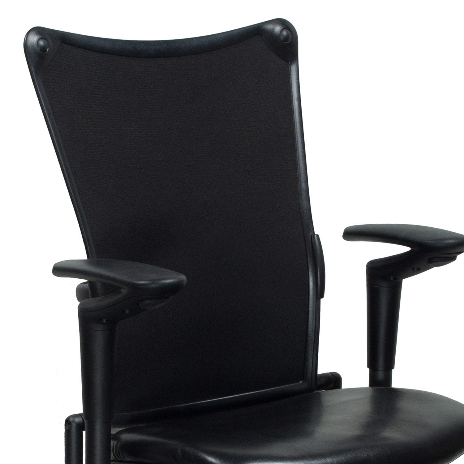 allsteel task chair folding cane 19 used with leather seat black