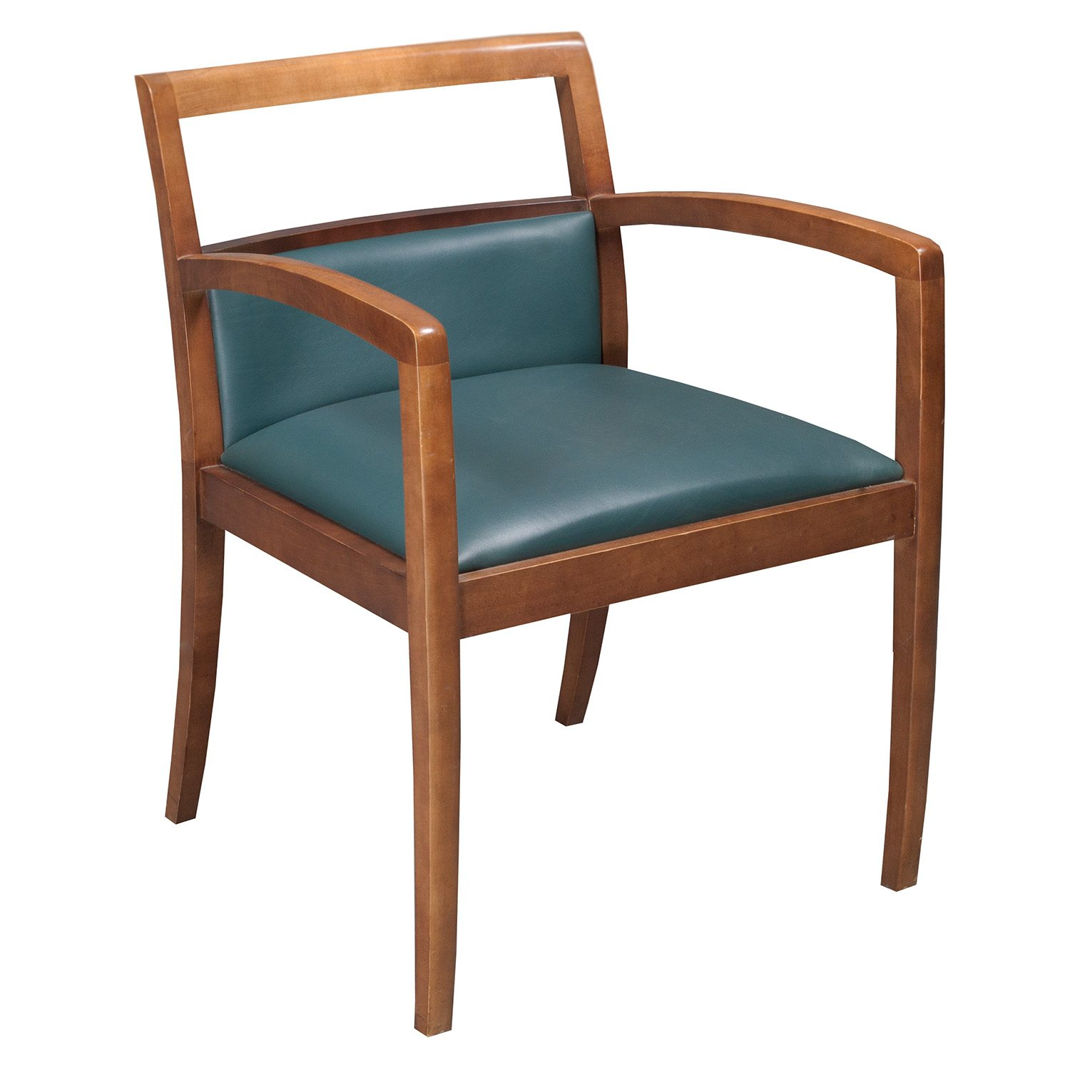 Bernhardt Leather Chair Bernhardt Used Wood And Leather Side Chair Green