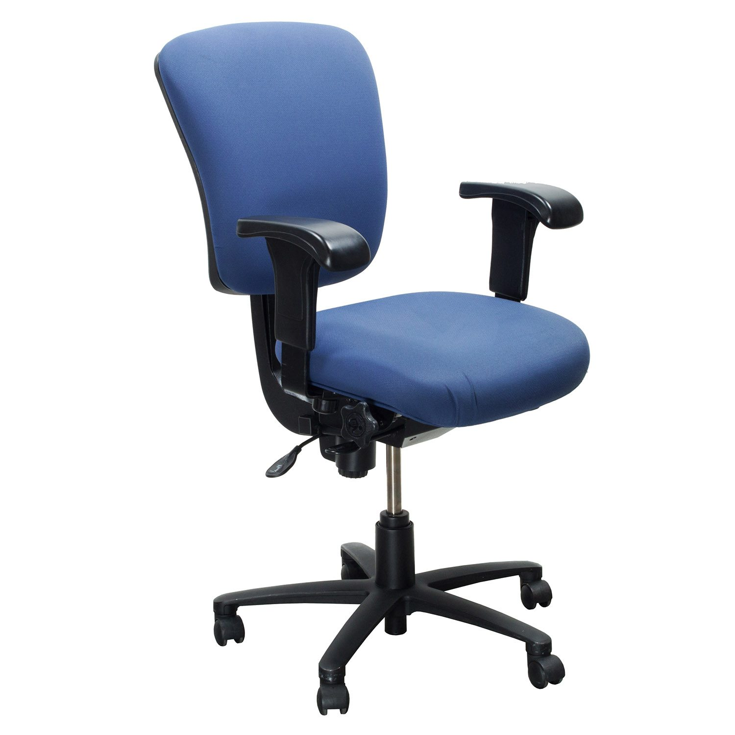 light blue desk chair wisconsin union chairs ergonomic comfort design vive lite 1300js used task
