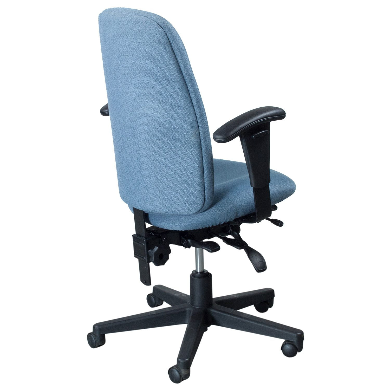 Used High Chairs Global Granada Used High Back Task Chair Light Blue
