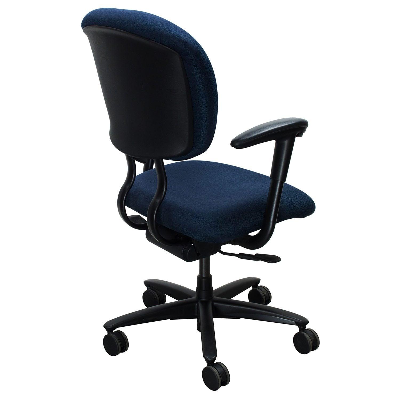 xl desk chair industrial lounge haworth improv used task blue speckle national