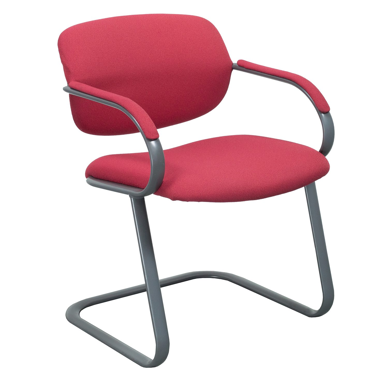 reupholster office chair with arms swivel lazada haworth reupholstered used side red national